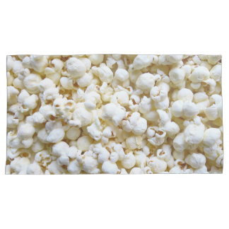 Popcorn Texture Photography and retro stripes Pillowcase