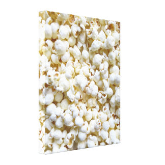 Popcorn Texture Photography Bright Decor Canvas Print