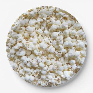Popcorn Texture Photography Decor Paper Plate
