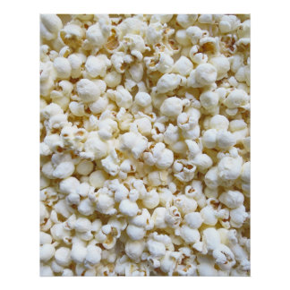 Popcorn Texture Photography Poster