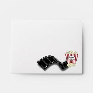 Popcorn Thank You Card Envelope