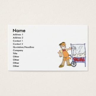 popcorn vendor movie popcorn cart business card
