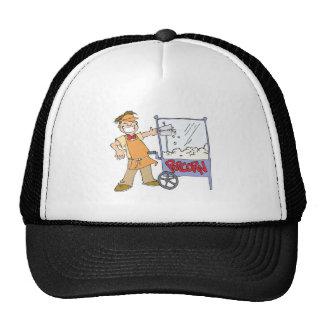 popcorn vendor movie popcorn cart hat