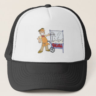 popcorn vendor movie popcorn cart trucker hat