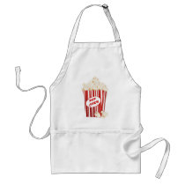 Popcorn vendors add words apron
