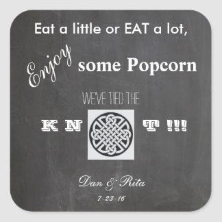 Popcorn Wedding Sticker