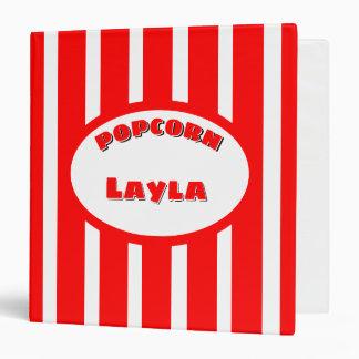 Popcorn Your name Binder