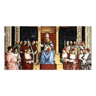 Pope Aeneas Piccolomini Canonize Catherineien Photo Card