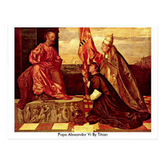 Pope Alexander Vi By Titian Post Cards