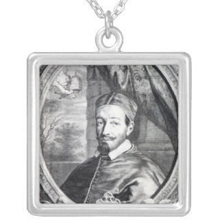 Pope Alexander VII Square Pendant Necklace