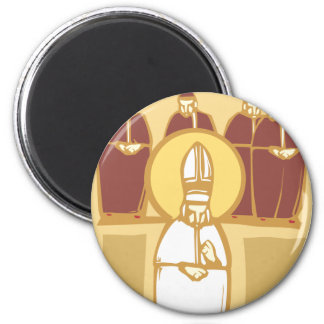 Pope and Cardinals 2 Inch Round Magnet