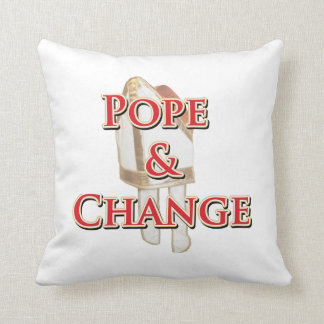 Pope and Change Throw Pillow