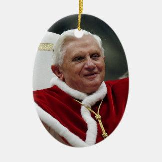 Pope Benedict XVI Ceramic Ornament
