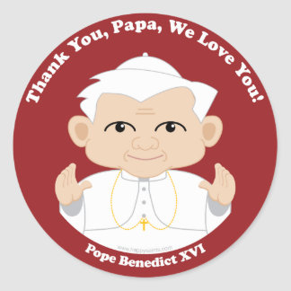 Pope Benedict XVI Classic Round Sticker
