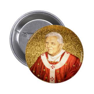 Pope Benedict XVI mosaic Button