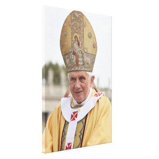 Pope Benedict XVI Sitting in Full Costume Canvas Canvas Print