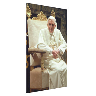 Pope Benedict XVI Sitting in His Chair Canvas Canvas Print