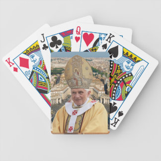 Pope Benedict XVI with the Vatican City Bicycle Playing Cards