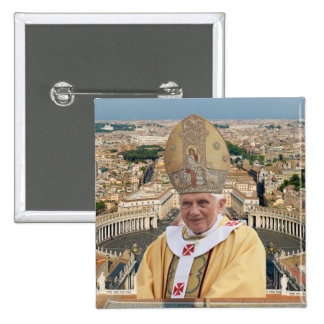 Pope Benedict XVI with the Vatican City 2 Inch Square Button