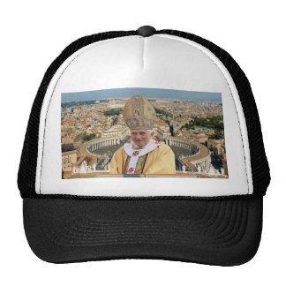 Pope Benedict XVI with the Vatican City Trucker Hat