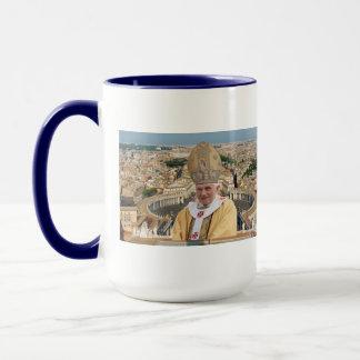 Pope Benedict XVI with the Vatican City Mug
