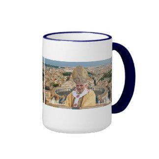 Pope Benedict XVI with the Vatican City Ringer Coffee Mug