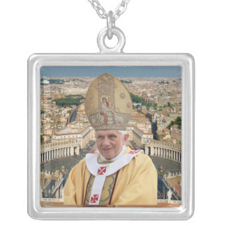 Pope Benedict XVI with the Vatican City Square Pendant Necklace