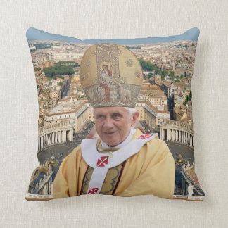 Pope Benedict XVI with the Vatican City Pillows