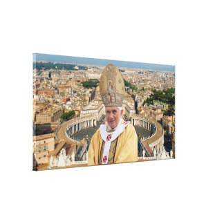 Pope Benedict XVI with the Vatican City Poster Canvas Print