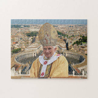 Pope Benedict XVI with the Vatican City Jigsaw Puzzle