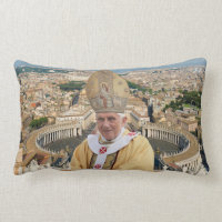 Pope Benedict XVI with the Vatican City Throw Pillows