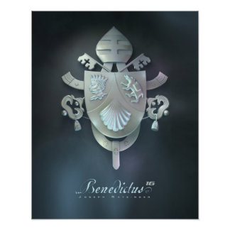 Pope Benedicts Coat of Arms Print