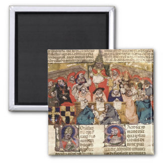Pope Boniface VIII  presiding over a 2 Inch Square Magnet
