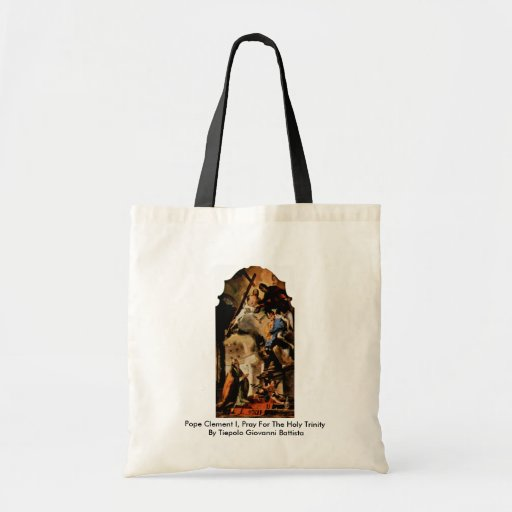 Pope Clement I, Pray For The Holy Trinity Canvas Bags