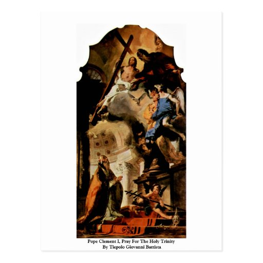 Pope Clement I, Pray For The Holy Trinity Postcard