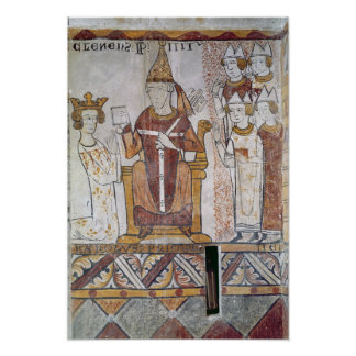 Pope Clement IV Investing Charles of Anjou Poster