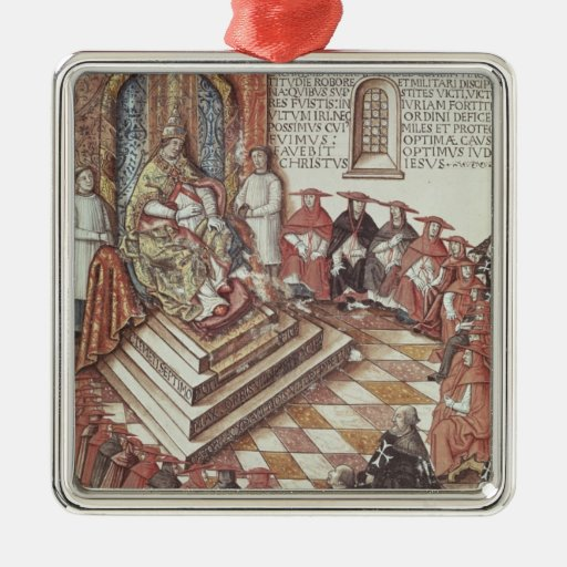 Pope Clement VII Square Metal Christmas Ornament
