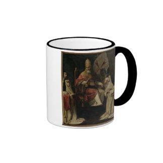 Pope Clement VIII blessing Carmelite Nuns (oil on Ringer Coffee Mug