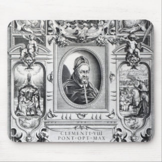 Pope Clement VIII, surrounded Mouse Pad