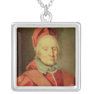 Pope Clement XI Square Pendant Necklace