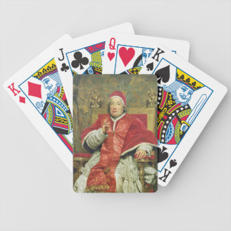 Pope Clement XIII (1693-1769) (oil on canvas) Bicycle Playing Cards