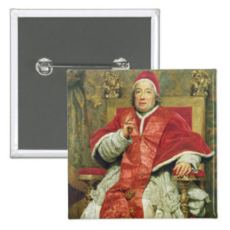 Pope Clement XIII (1693-1769) (oil on canvas) Buttons