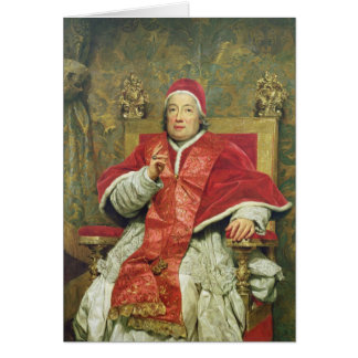 Pope Clement XIII (1693-1769) (oil on canvas) Card
