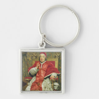 Pope Clement XIII (1693-1769) (oil on canvas) Keychain