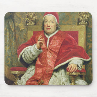 Pope Clement XIII (1693-1769) (oil on canvas) Mouse Pad