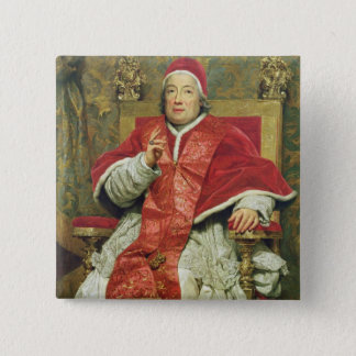 Pope Clement XIII (1693-1769) (oil on canvas) Pinback Button