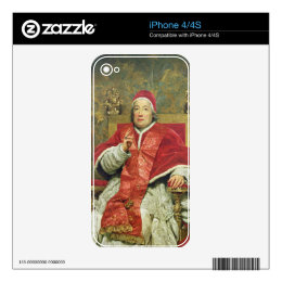 Pope Clement XIII (1693-1769) (oil on canvas) Skins For The iPhone 4