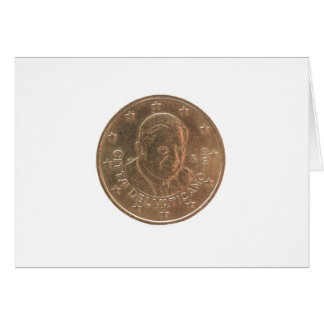 Pope coin card