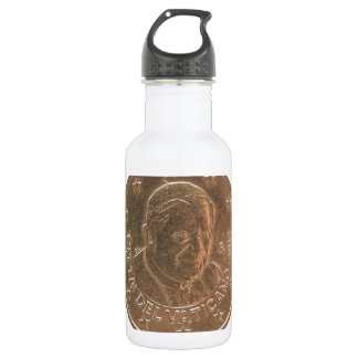Pope coin water bottle