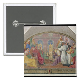 Pope Eugene IV Consecrating the convent of San Mar Button